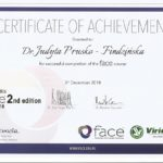 Certyfikat of achievement - DR Judyta Prusko - Findzińska