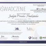 Zaświadczenie Judyta Prusko Findzińska - zaświadczenie Leczenie ortodontyczne pacjentów z uzębieniem mieszanym